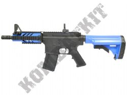 M805 M4 CQB Electric Airsoft Machine Gun Black and Blue